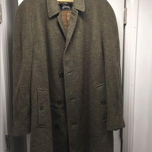 Men vintage Burberry Tweed Overcoat size 44 R